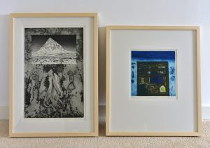 Original art works by Reinhard Behrens and Barbara Rae